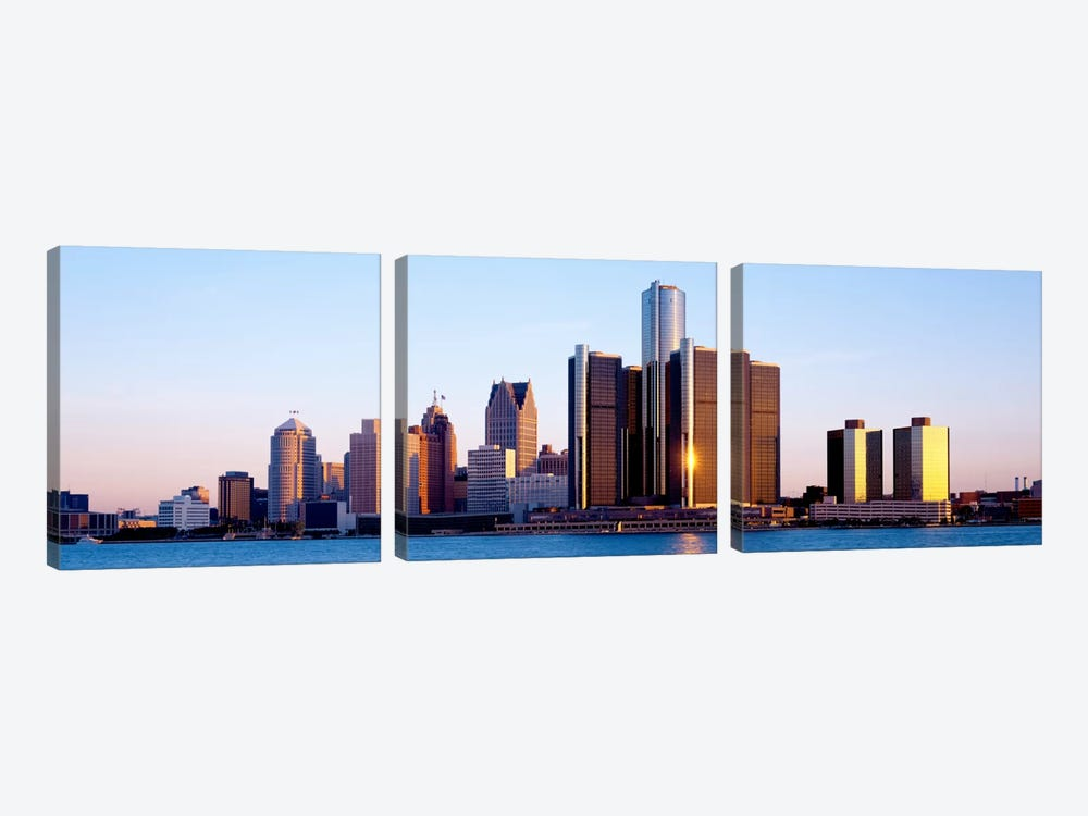 Morning, Detroit, Michigan, USA by Panoramic Images 3-piece Art Print