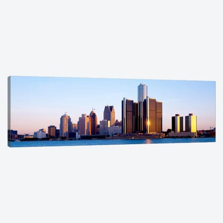 Morning, Detroit, Michigan, USA 3-Piece Canvas #PIM1108} by Panoramic Images Canvas Artwork