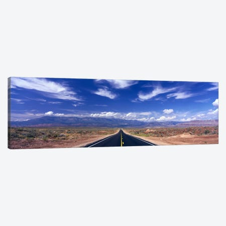 Cloudy Southwestern Landscape, Zion National Park, Utah, USA Canvas Print #PIM1109} by Panoramic Images Canvas Wall Art