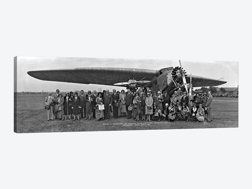 Amelia Earhart Washington DC Airfield by Panoramic Images 1-piece Canvas Artwork