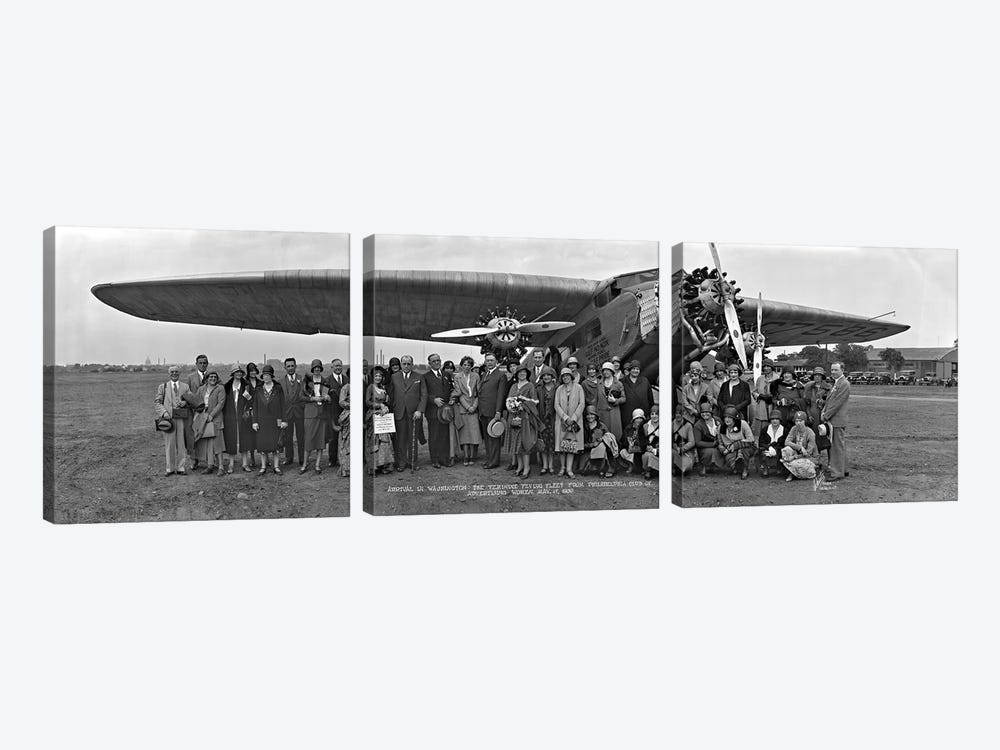 Amelia Earhart Washington DC Airfield by Panoramic Images 3-piece Canvas Artwork