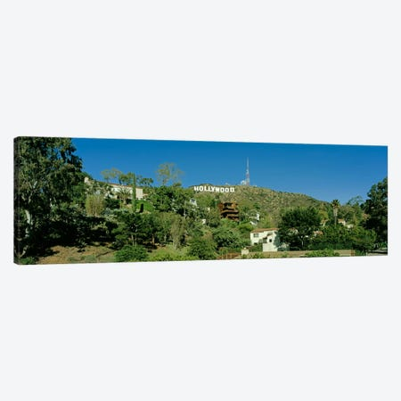 USA, California, Los Angeles, Hollywood Sign at Hollywood Hills Canvas Print #PIM1110} by Panoramic Images Art Print