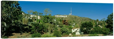USA, California, Los Angeles, Hollywood Sign at Hollywood Hills Canvas Art Print