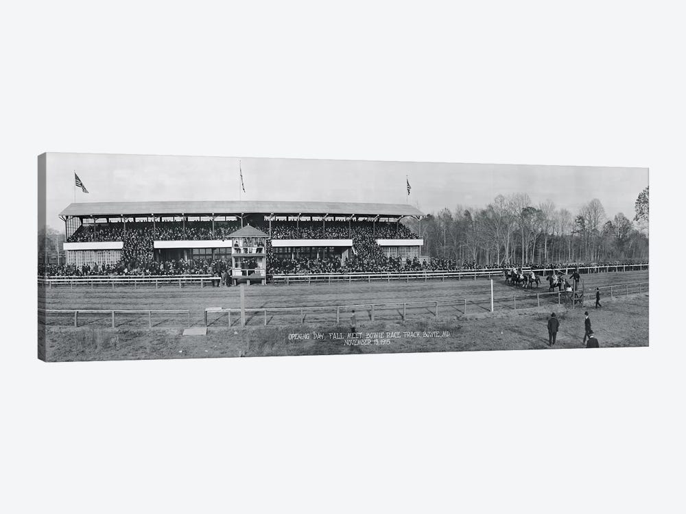 Bowie Race Track Bowie MD Opening Day Fall Meet November 13 1915 by Panoramic Images 1-piece Canvas Artwork