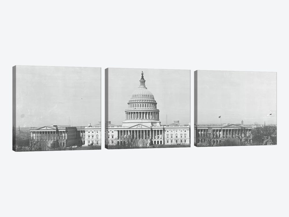 US Capitol Washington DC 1916 by Panoramic Images 3-piece Canvas Art