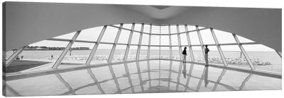 Silhouette of two people in a museum, Milwaukee Art Museum, Milwaukee, Wisconsin, USA Canvas Art Print