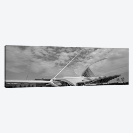 Milwaukee Art Museum In B&W, Milwaukee, Wisconsin, USA Canvas Print #PIM11156} by Panoramic Images Canvas Artwork