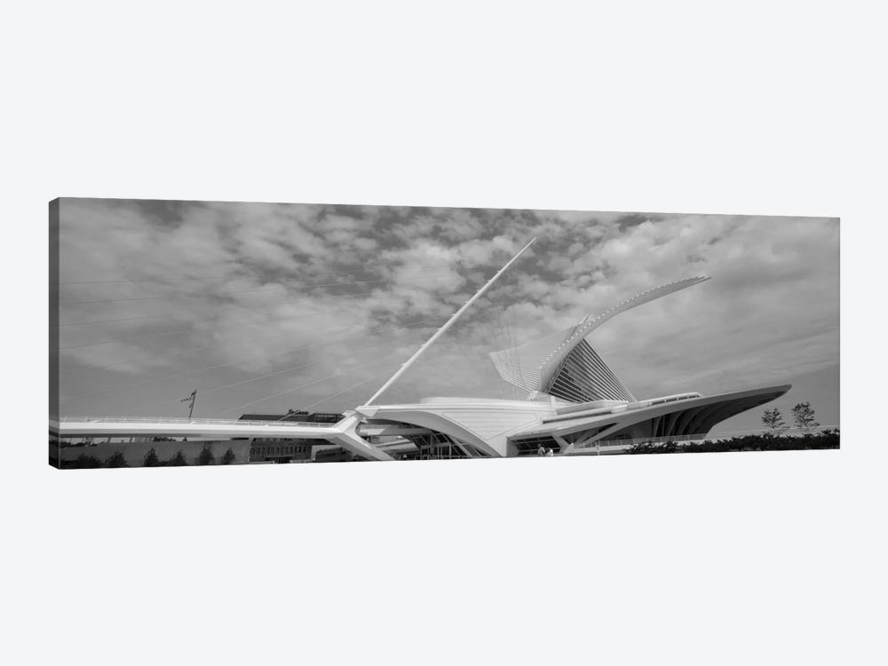 Milwaukee Art Museum In B&W, Milwaukee, Wisconsin, USA by Panoramic Images 1-piece Canvas Art