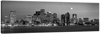 Downtown Skyline In B&W, Boston, Massachusetts, USA Canvas Art Print