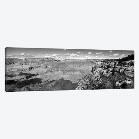 River Valley Landscape In B&W, Grand Canyon National Park, Arizona, USA Canvas Print #PIM11169} by Panoramic Images Canvas Art