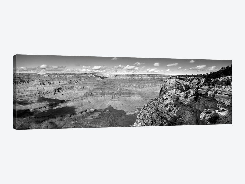 River Valley Landscape In B&W, Grand Canyon National Park, Arizona, USA by Panoramic Images 1-piece Canvas Art