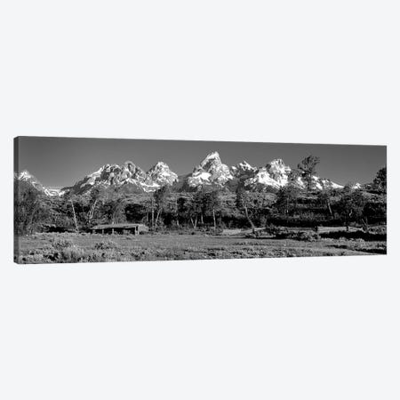 USA, Grand Teton National Park, Hut at Ranch Canvas Print #PIM11174} by Panoramic Images Canvas Art