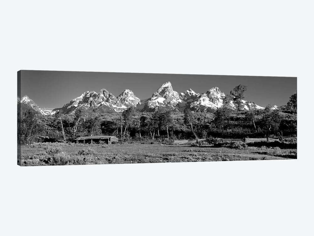 USA, Grand Teton National Park, Hut at Ranch by Panoramic Images 1-piece Canvas Artwork