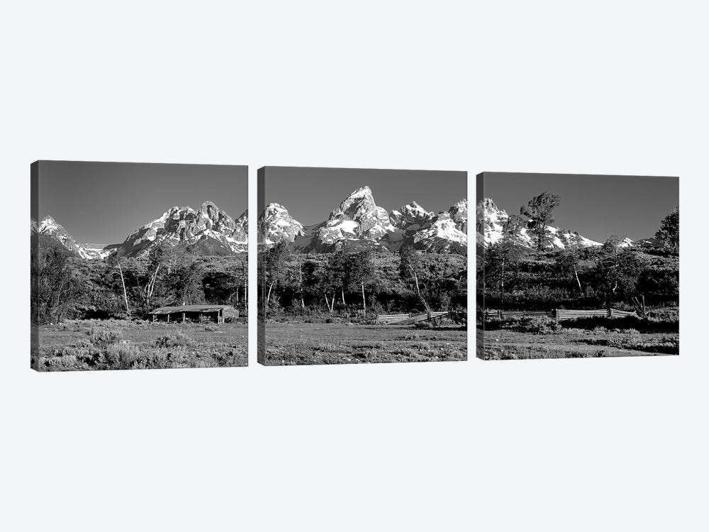 USA, Grand Teton National Park, Hut at Ranch by Panoramic Images 3-piece Canvas Art