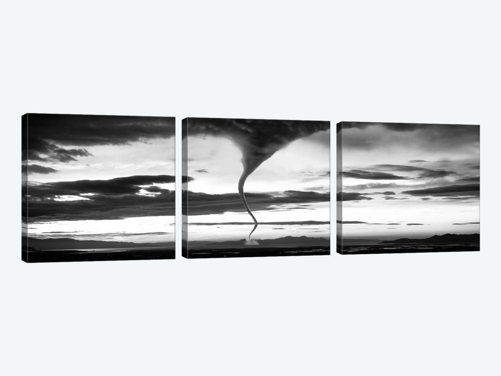 Tornado In B&W by Panoramic Images 3-piece Canvas Art Print