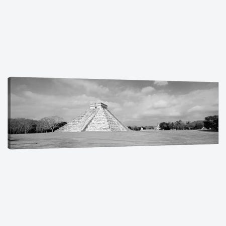 El Castillo Pyramid, Chichen Itza, Yucatan, Mexico Canvas Print #PIM11176} by Panoramic Images Canvas Artwork
