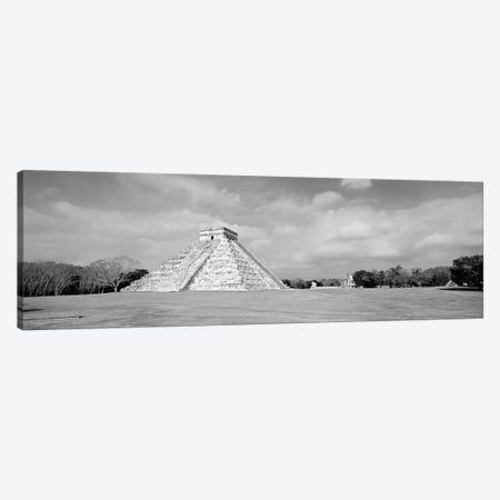 El Castillo Pyramid, Chichen Itza, Yucatan, Mexico 3-Piece Canvas #PIM11176} by Panoramic Images Canvas Artwork