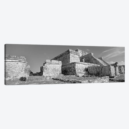 El Castillo, Tulum Archaeological Zone, Quintana Roo, Mexico 3-Piece Canvas #PIM11181} by Panoramic Images Canvas Art