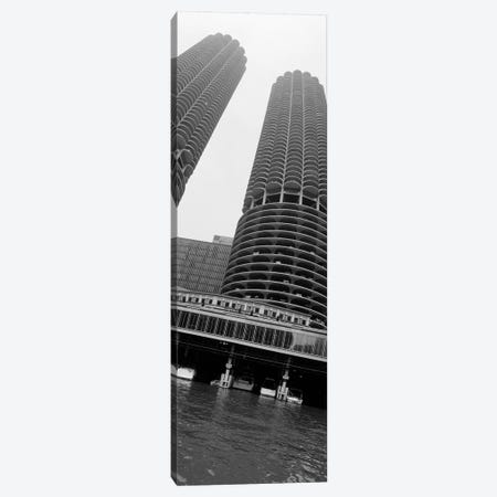 Low angle view of towers, Marina Towers, Chicago, Illinois, USA Canvas Print #PIM11192} by Panoramic Images Canvas Art Print