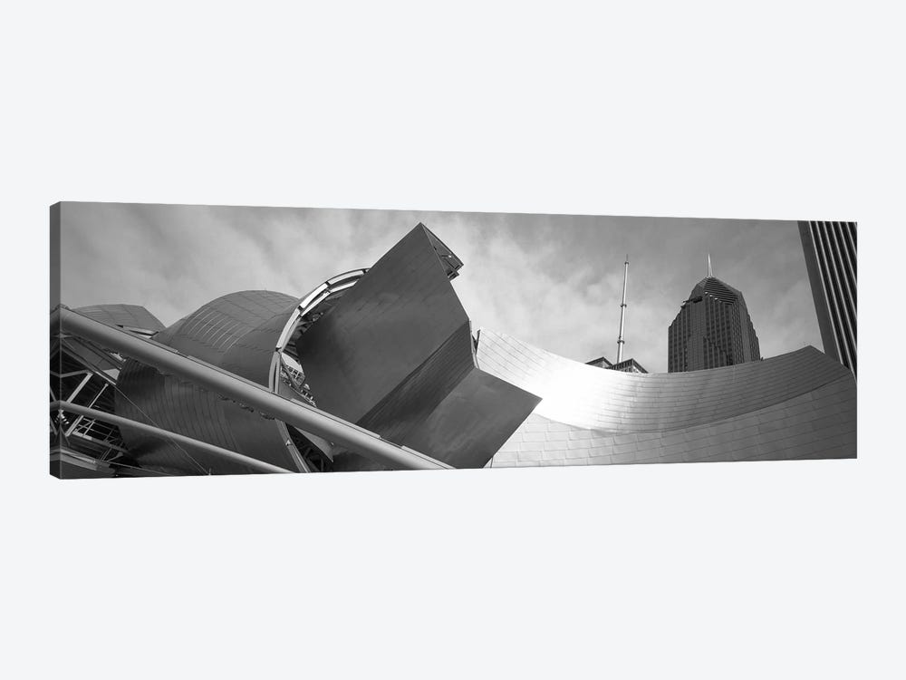 Low Angle View Of Buildings, Pritzker Pavilion, Millennium Park, Chicago, Illinois, USA by Panoramic Images 1-piece Art Print
