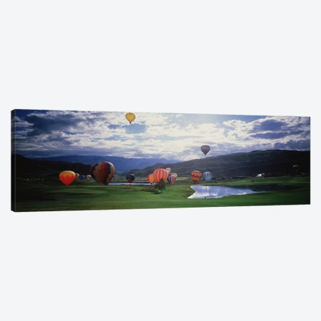 Hot Air Balloons, Snowmass, Colorado, USA Canvas Print #PIM1120} by Panoramic Images Canvas Artwork