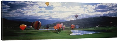 Hot Air Balloons, Snowmass, Colorado, USA Canvas Art Print