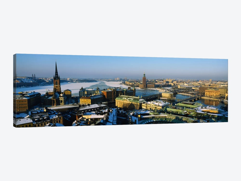 High angle view of a city, Stockholm, Sweden by Panoramic Images 1-piece Canvas Art