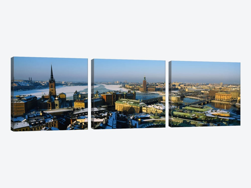 High angle view of a city, Stockholm, Sweden by Panoramic Images 3-piece Canvas Artwork