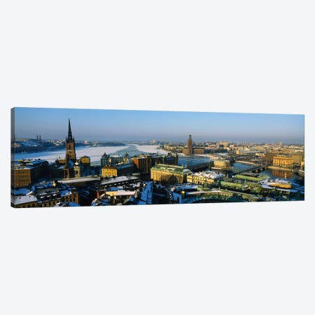 High angle view of a city, Stockholm, Sweden 3-Piece Canvas #PIM1121} by Panoramic Images Canvas Wall Art