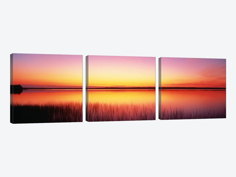Sunrise Lake Michigan Door County WI by Panoramic Images 3-piece Canvas Print
