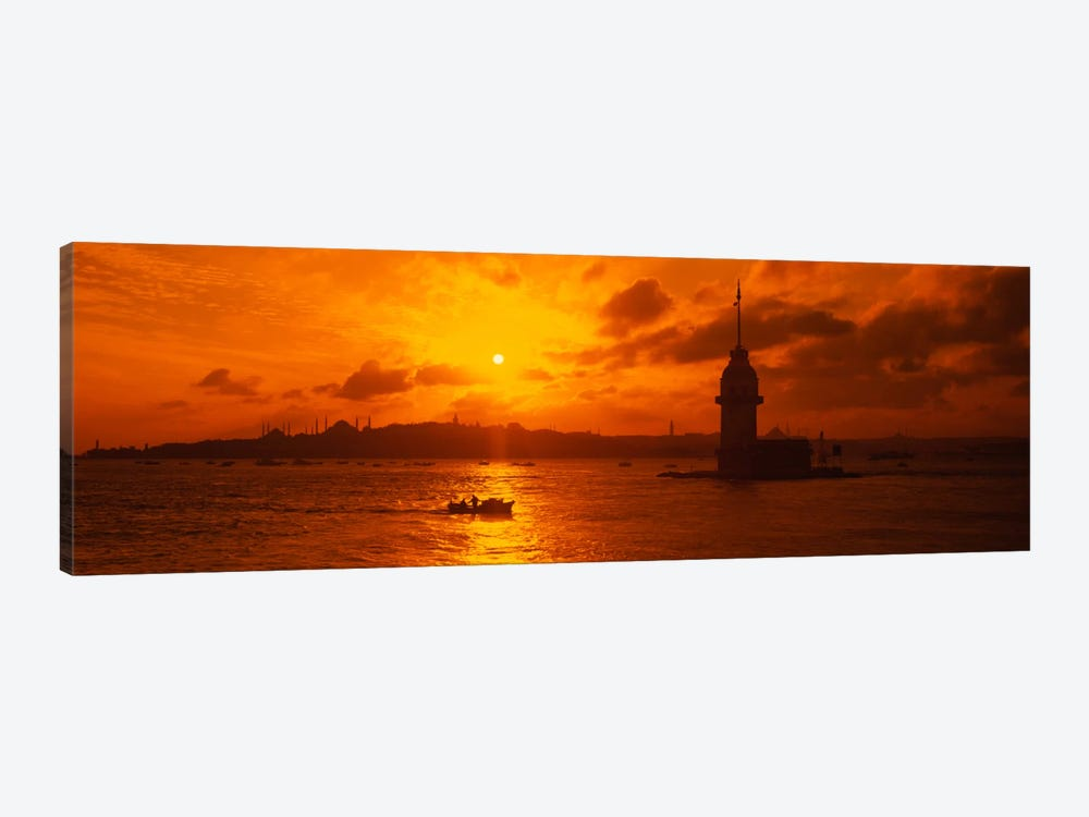 Sunset over a river, Bosphorus, Istanbul, Turkey by Panoramic Images 1-piece Canvas Art