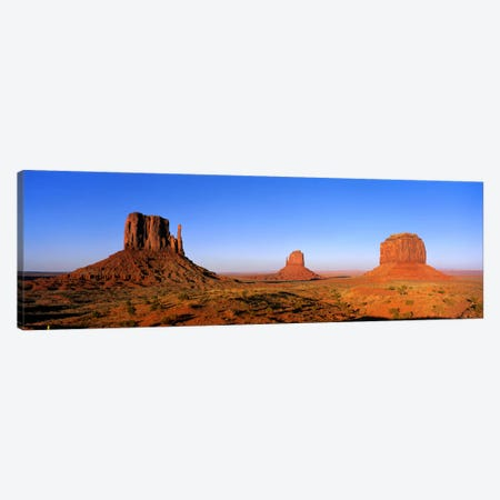 The Mittens & Merrick Butte, Monument Valley, Navajo Nation, Arizona, USA Canvas Print #PIM1125} by Panoramic Images Art Print