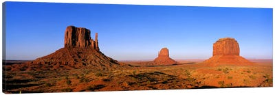 The Mittens & Merrick Butte, Monument Valley, Navajo Nation, Arizona, USA Canvas Print #PIM1125