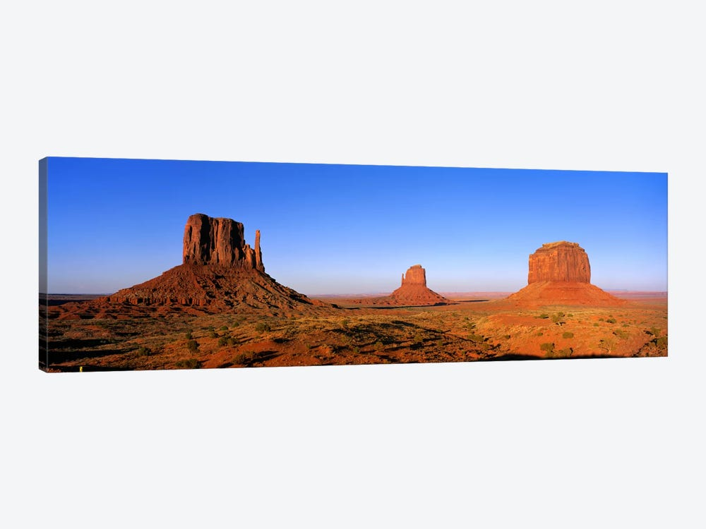 The Mittens & Merrick Butte, Monument Valley, Navajo Nation, Arizona, USA by Panoramic Images 1-piece Canvas Artwork