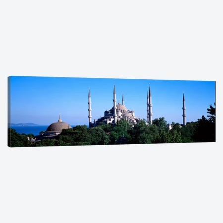 Blue Mosque Istanbul Turkey #3 Canvas Print #PIM1126} by Panoramic Images Art Print
