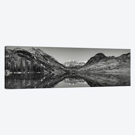 Reflection of mountains in a lake, Maroon Bells, Aspen, Pitkin County, Colorado, USA Canvas Print #PIM11273} by Panoramic Images Canvas Art