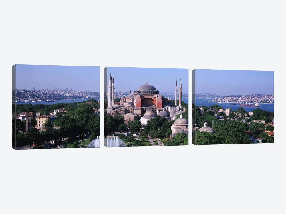 Hagia Sophia, Istanbul, Turkey by Panoramic Images 3-piece Canvas Art
