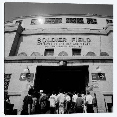 Spectators entering a football stadium, Soldier Field, Lake Shore Drive, Chicago, Illinois, USA Canvas Print #PIM11289} by Panoramic Images Canvas Print