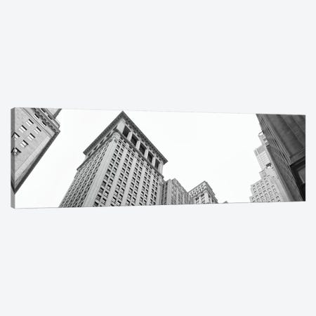Skyscrapers in a city, Wall Street, Lower Manhattan, Manhattan, New York City, New York State, USA Canvas Print #PIM11301} by Panoramic Images Canvas Wall Art