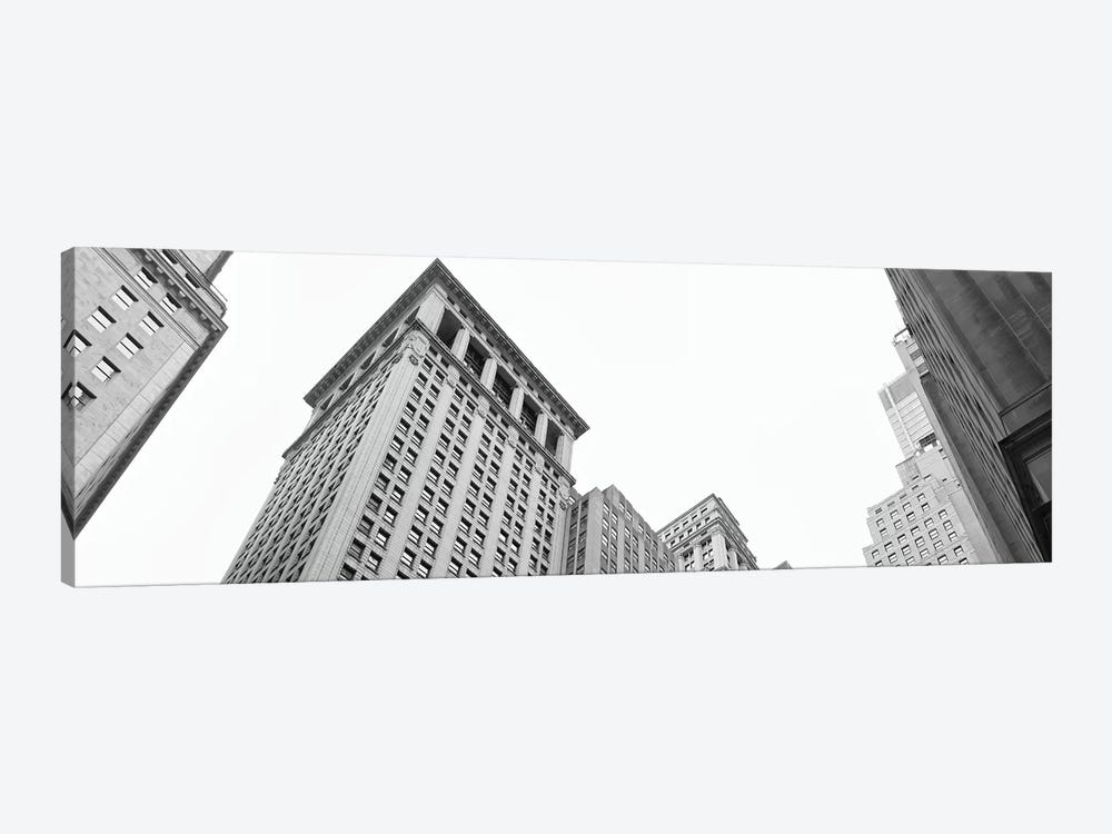 Skyscrapers in a city, Wall Street, Lower Manhattan, Manhattan, New York City, New York State, USA by Panoramic Images 1-piece Art Print