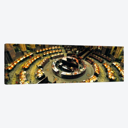 High Angle View Of A Library Reading Room, Library Of Congress, Washington DC, District Of Columbia, USA Canvas Print #PIM1130} by Panoramic Images Art Print