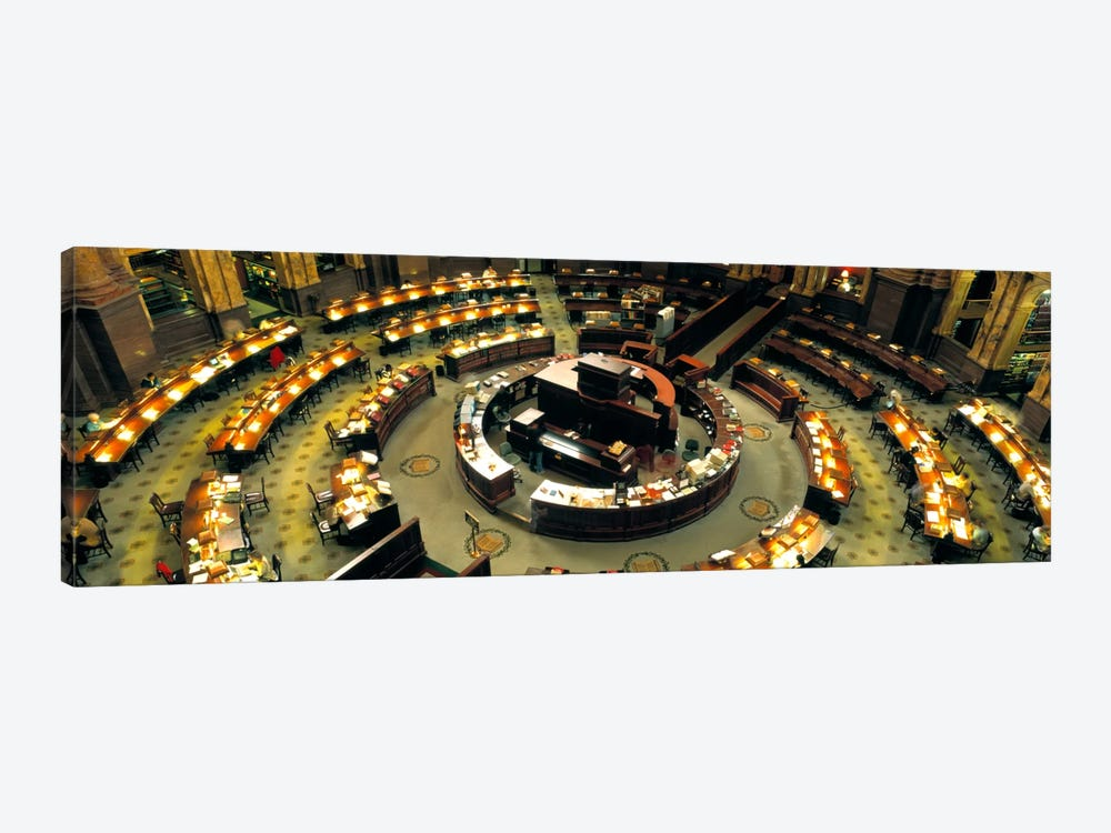 High Angle View Of A Library Reading Room, Library Of Congress, Washington DC, District Of Columbia, USA by Panoramic Images 1-piece Canvas Wall Art