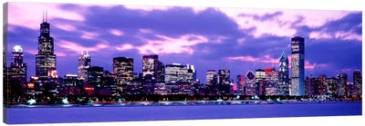 Sunset Chicago IL USA Canvas Art Print