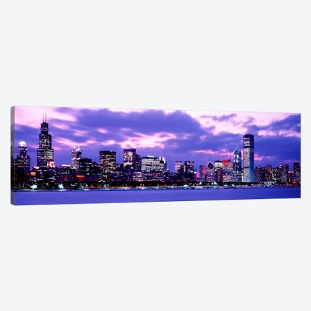 Sunset Chicago IL USA Canvas Print #PIM1131} by Panoramic Images Canvas Art Print