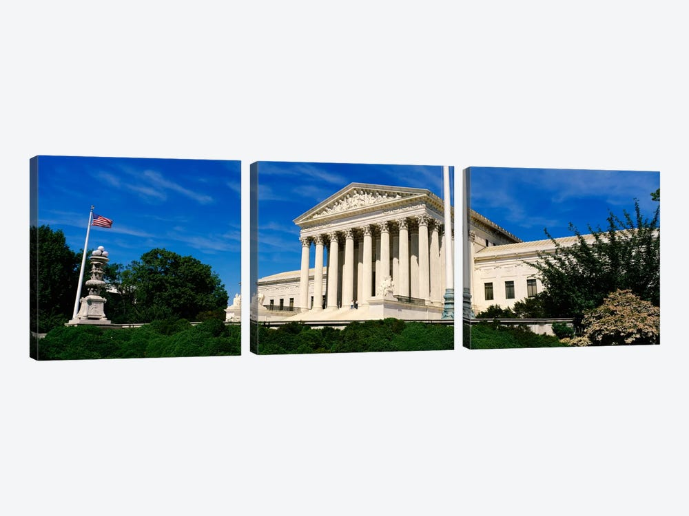 US Supreme Court Building, Washington DC, District Of Columbia, USA by Panoramic Images 3-piece Canvas Wall Art