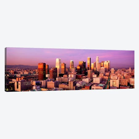 Sunset Skyline Los Angeles CA USA Canvas Print #PIM1133} by Panoramic Images Canvas Art Print