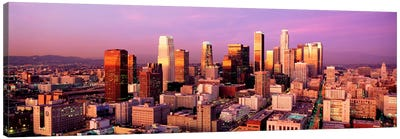 Sunset Skyline Los Angeles CA USA Canvas Print #PIM1133