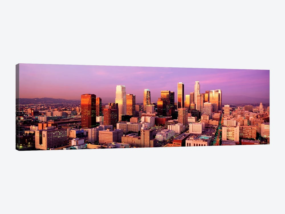 Sunset Skyline Los Angeles CA USA by Panoramic Images 1-piece Art Print