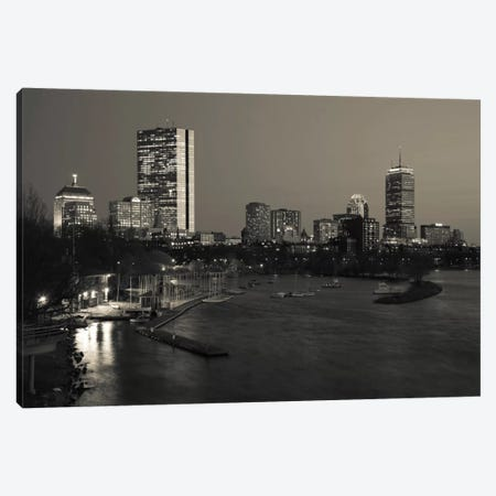 Back Bay Neighborhood In B&W, Boston, Massachusetts, USA Canvas Print #PIM11340} by Panoramic Images Canvas Art