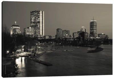 Back Bay Neighborhood In B&W, Boston, Massachusetts, USA Canvas Art Print